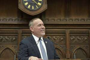 Connecticut Speaker of the House Joe Aresimowicz before Governor Ned Lamont's State of the State address in the House chamber, Wednesday, January 9, 2019.