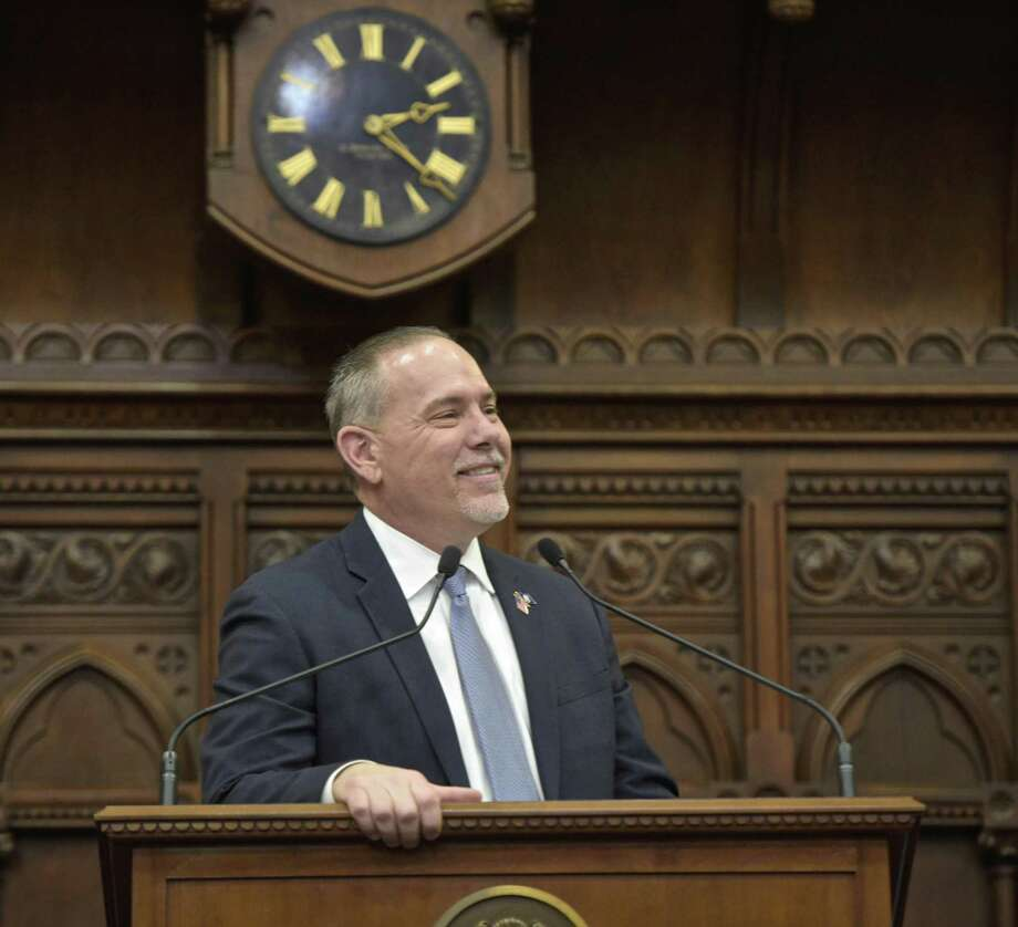 Connecticut Speaker of the House Joe Aresimowicz before Governor Ned Lamont's State of the State address in the House chamber, Wednesday, January 9, 2019. Photo: H John Voorhees III / Hearst Connecticut Media / The News-Times