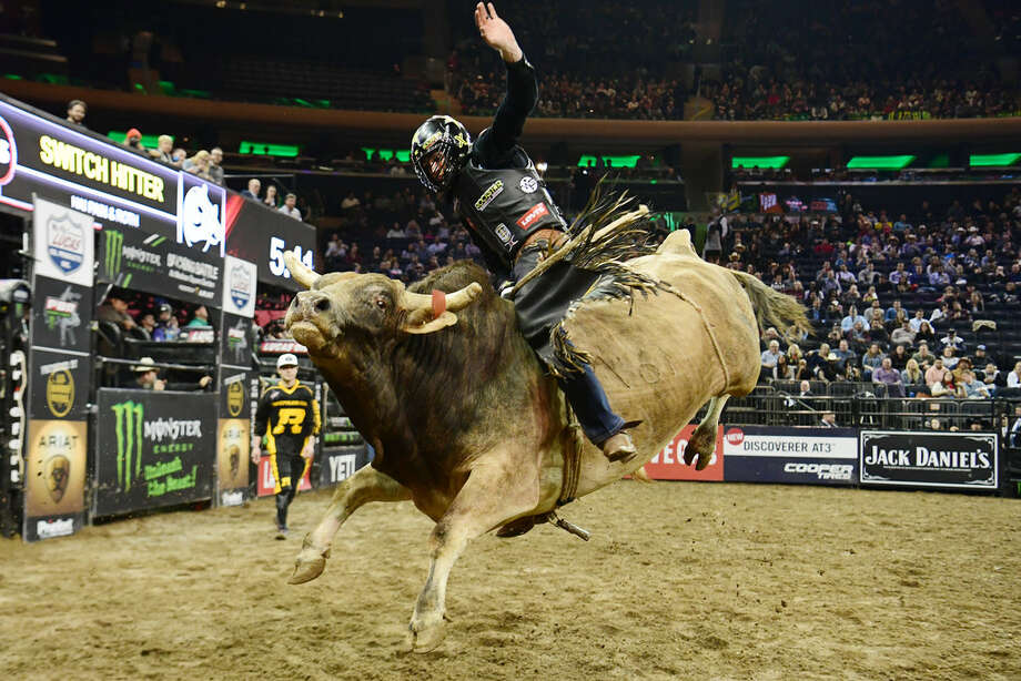 NEW YORK, NEW YORK - JANUARY 04: Cody Teel rides Switch Hitter during the PBR Unleash the Beast bull riding event at Madison Square Garden on January 04, 2019 in New York City. (Photo by Sarah Stier/Getty Images) Photo: Getty Images