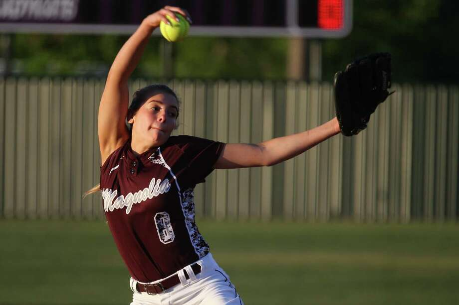 FILE PHOTO — Magnolia's Sawyer Jordan pitched six no-hit innings during a 13-0 victory over Paetow on Friday night. Photo: Michael Minasi, Staff Photographer / Houston Chronicle / © 2018 Houston Chronicle