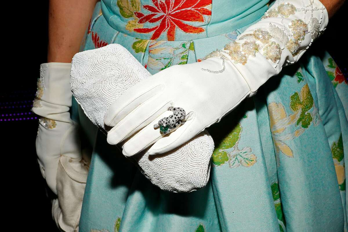 Larissa Roesch in her grandmother's gloves and purse and a Cartier ring at 86th San Francisco Ballet gala City Hall in San Francisco, Calif., on Wednesday, January 23, 2019.