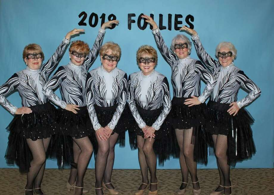 "Tickets to the 2019 Walden Follies will go on sale to the general public February 1. The Follies is a music, comedy, variety show presented in Walden Yacht Club by residents of Walden near Montgomery. The 2019 theme is ""Welcome to Hollywood—What's Your Dream?"" Show dates are Feb.28, March 1, 2, 3. Shown above are the 2018 Jazzy Broads, a longtime favorite dance group that includes left to right: Mary Ann Lenhart, Jan Jessen, Chris Brock, Lin Scheib, Sharon Richardson, and Dianne Williams. Photo: Courtesy Photo"