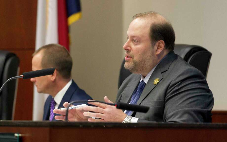 Conroe Councilman Duke Coon did not support the staff recommendation on a high bidder and urged the council to go with the low bid on a lift station consolidation project. Photo: Jason Fochtman, Houston Chronicle / Staff Photographer / © 2019 Houston Chronicle