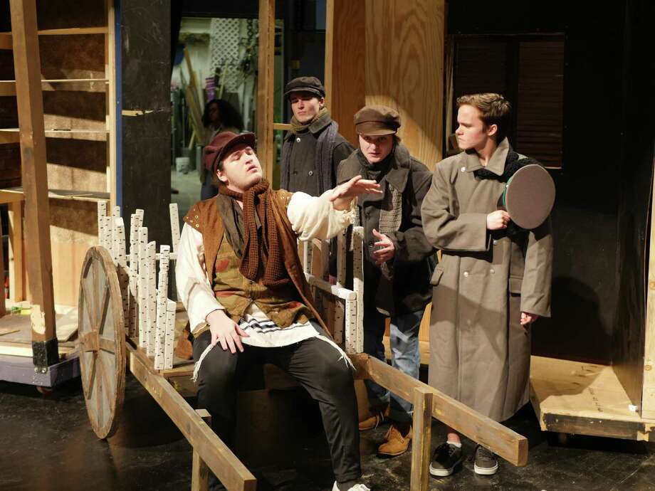 "Will Clyburn stars as Tevye, left, in Friendswood High School's production of ""Fiddler in the Roof."""