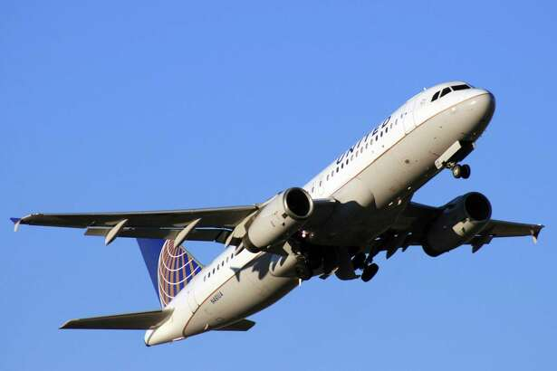 A United Airlines Airbus A320 takes off from Bush Intercontinental Airport. Stamford-based Hexcel makes parts for Airbus A320s.