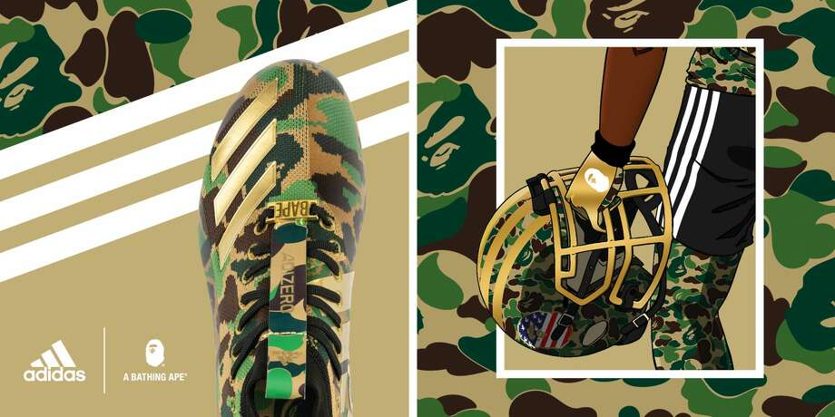 Browse through the photos for a look at the entire adidas x BAPE Super Bowl collection. Photo: Adidas