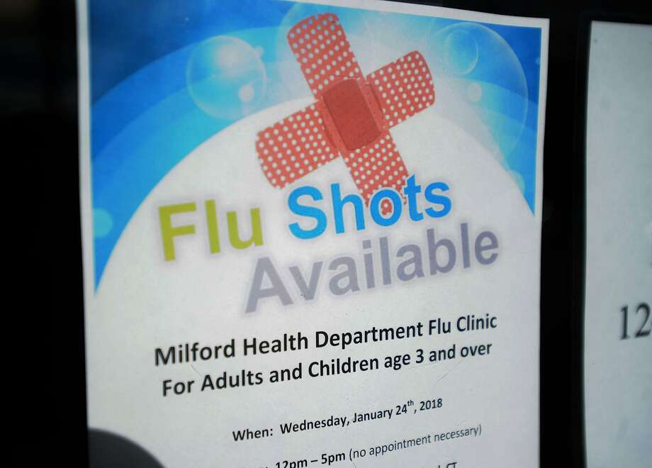 The free flu shot clinic at Milford Health Department offices in Milford, Conn. on Wednesday, January 24, 2018. Photo: Brian A. Pounds / Hearst Connecticut Media / Connecticut Post
