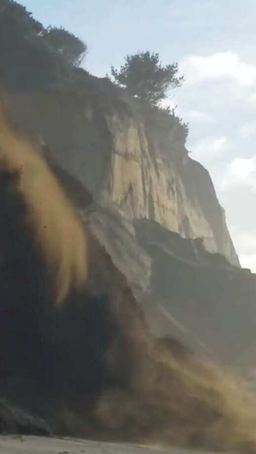 Mike Jensen was at Centerville Beach in Humboldt County when a cliff started to crumble. Photo: Mike Jensen
