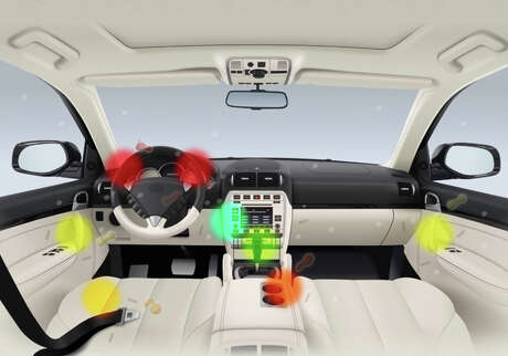 These are the germiest surfaces in the average car. Photo: Carrentals.com