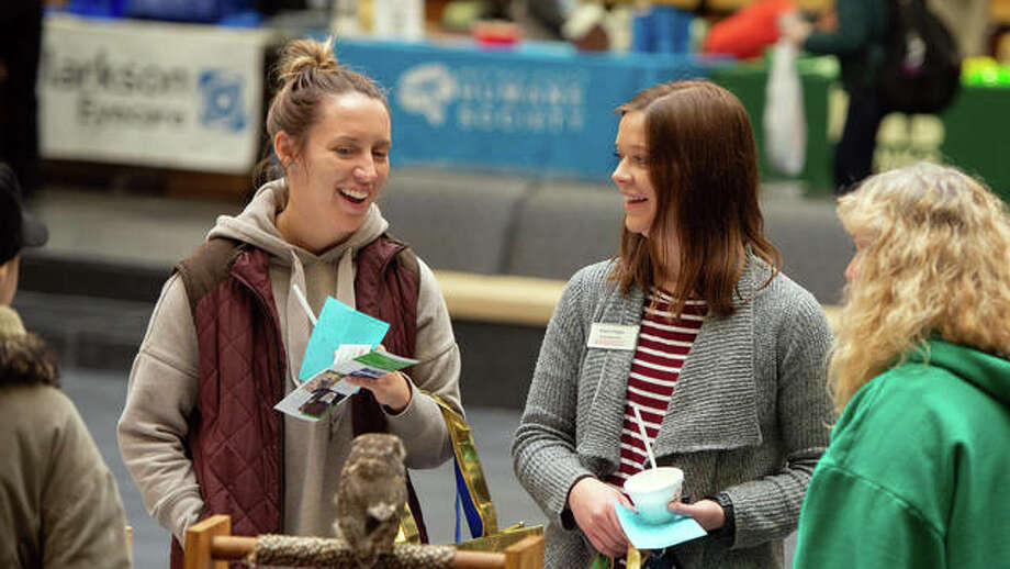 SIUE students learn about volunteer opportunities during the Spring 2019 Cougar Fest: Merchant and Volunteer Fair. Photo: For The Intelligencer