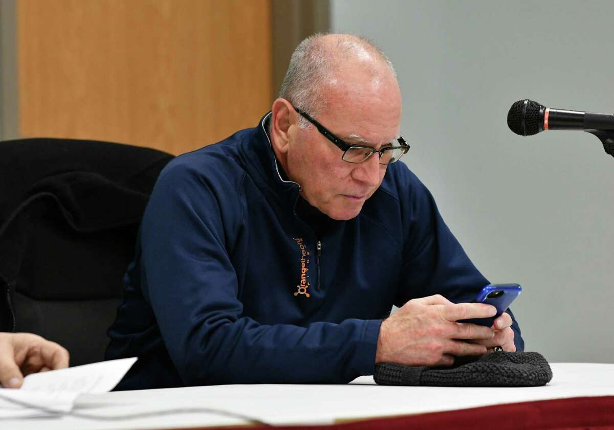 Troy City Councilman Mark McGrath is see during a council meeting at Troy City Hall on Thursday, Jan. 24, 2019 in Troy N.Y. (Lori Van Buren/Times Union)