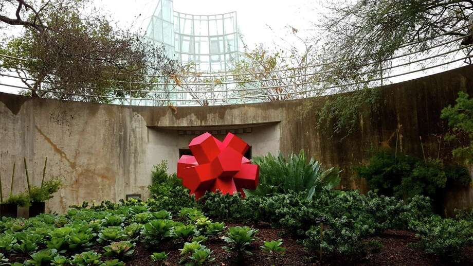 """Geometric Harmony"": ""Dodecahedron"" is one of six metal sculptures that make up ""Geometric Harmony,"" the latest exhibit in the San Antonio Botanical Garden's Santikos Art in the Garden exhibition series. The works are by Mexican artist Alejandro Martin, who works under the name Otto.