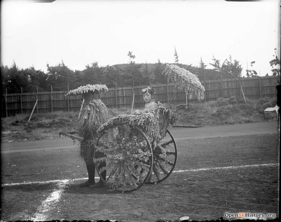 """A rickshaw from the """"Japanese Village"""" exhibit of the California Midwinter International Exposition of 1894 held in San Francisco's Golden Gate Park. Photo courtesy of OpenSFHistory. Photo: OpenSFHistory"""