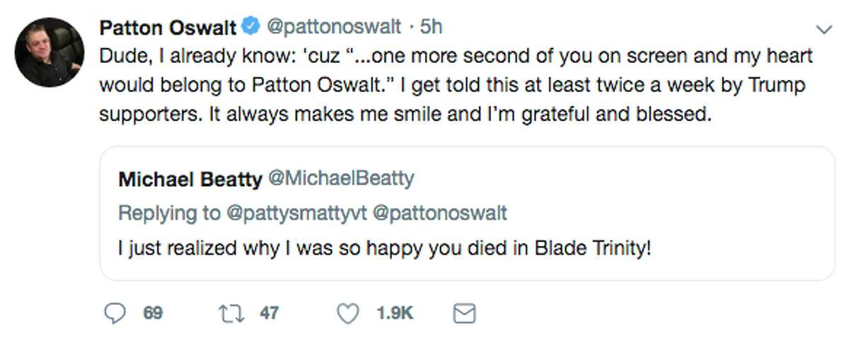 Comic Patton Oswalt lent a helping hand to a man with some hefty medical bills.