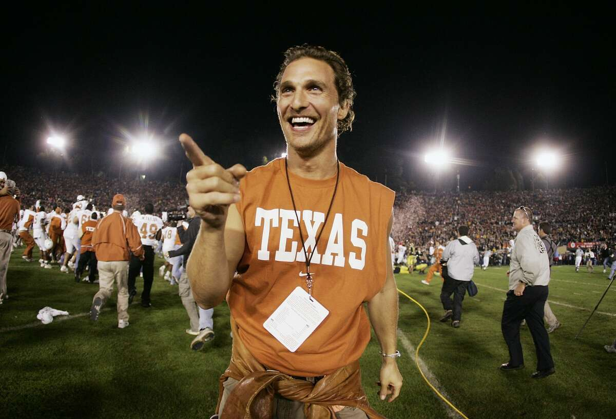 Matthew McConaughey is a proud Texan through and through. And he's willing to head the state to prove it.