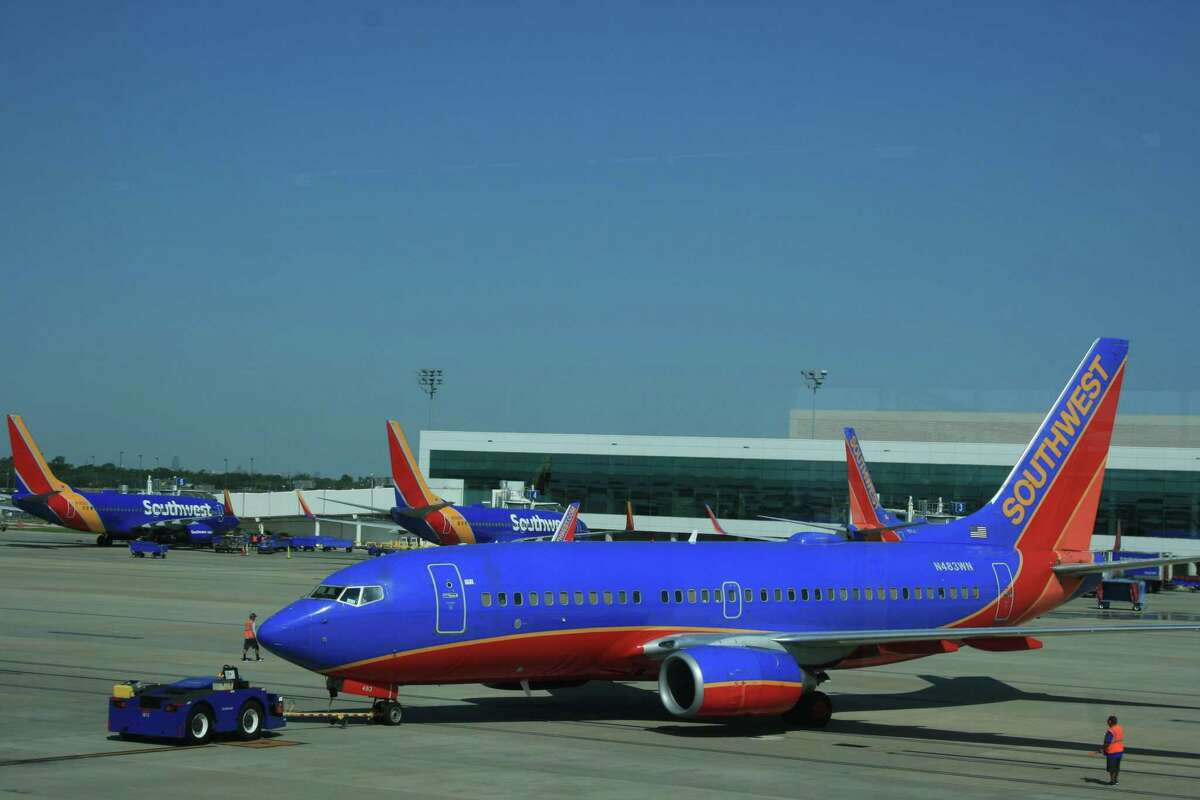 Dallas-based Southwest Airlines operates some three-quarters of the commercial flights at Houston's Hobby Airport.