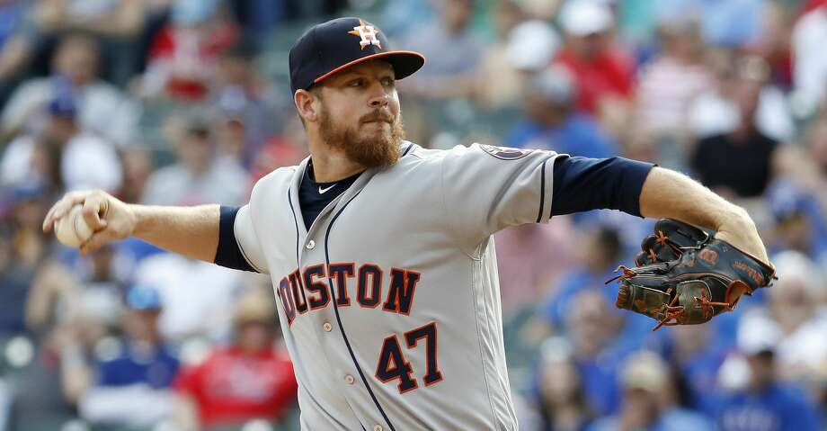 Houston Astros relief pitcher Chris Devenski (47) pitches in the seventh inning of  Opening Day at Globe Life Park, Thursday, March 29, 2018, in Arlington.   ( Karen Warren / Houston Chronicle ) Photo: Karen Warren/Houston Chronicle
