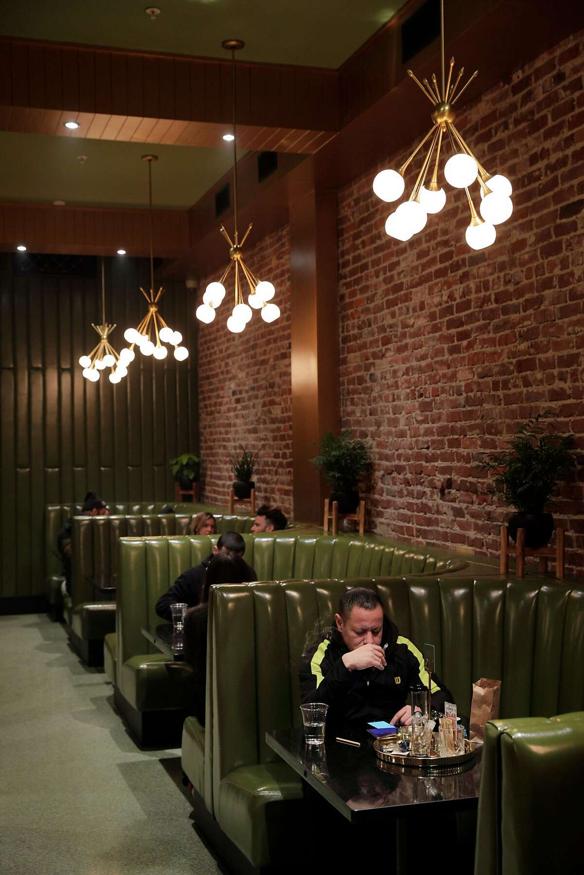 The High Roller Room at the new Moe Green's dispensary lounge in San Francisco, Calif., on Monday, January 21, 2019.