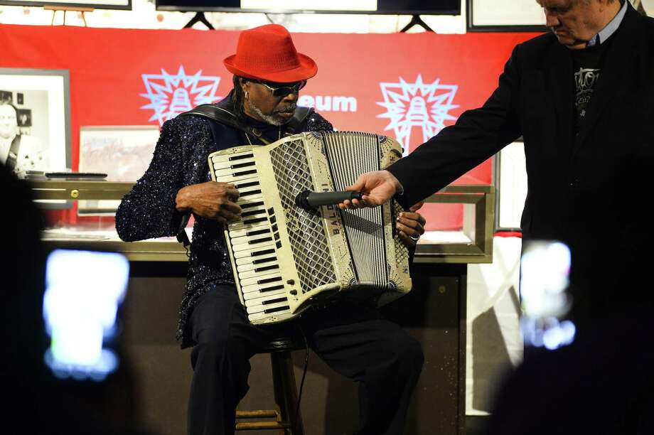 C.J. Chenier performs for audience members after being inducted into the Museum of the Gulf Coast Halls of Fame along with the late Clifford Antone. Photo taken on Thursday, 01/24/19. Ryan Welch/The Enterprise Photo: Ryan Welch / The Enterprise / ©Ryan Welch