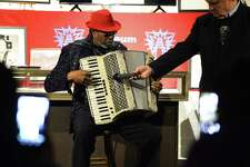 C.J. Chenier performs for audience members after being inducted into the Museum of the Gulf Coast Halls of Fame along with the late Clifford Antone. Photo taken on Thursday, 01/24/19. Ryan Welch/The Enterprise