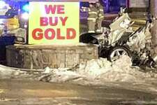 The Danbury police Traffic Division is investigating a horrific crash early Thursday, Jan. 24, 2019 that caused the driver to be ejected as the car split in two, police said. The accident occurred at around 2 a.m. as the driver was headed west on White Street, Lt. Ethan Mable said.
