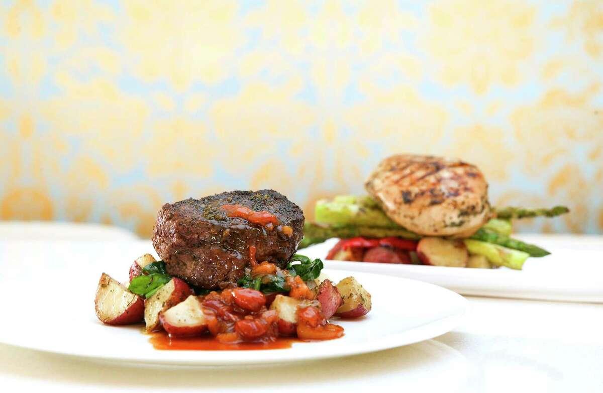 The La Vista 101's beef tenderloin and chicken breast.