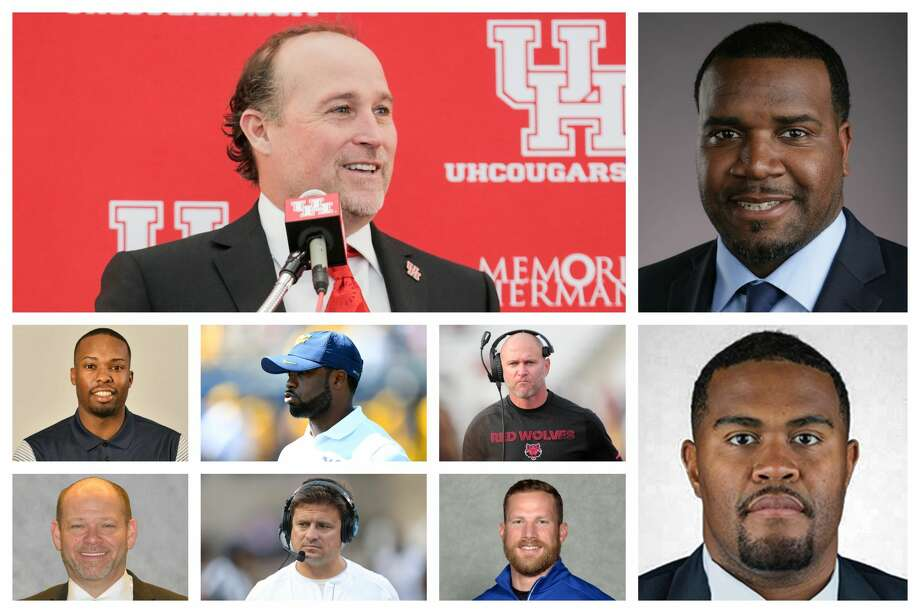 PHOTOS: Houston introduces new football coach Dana Holgorsen The new football coaching staff at the University of Houston. >>>A look at the introductory press conference of Cougars' new head football coach Dana Holgorsen ... Photo: Wire Photos; Houston Chronicle