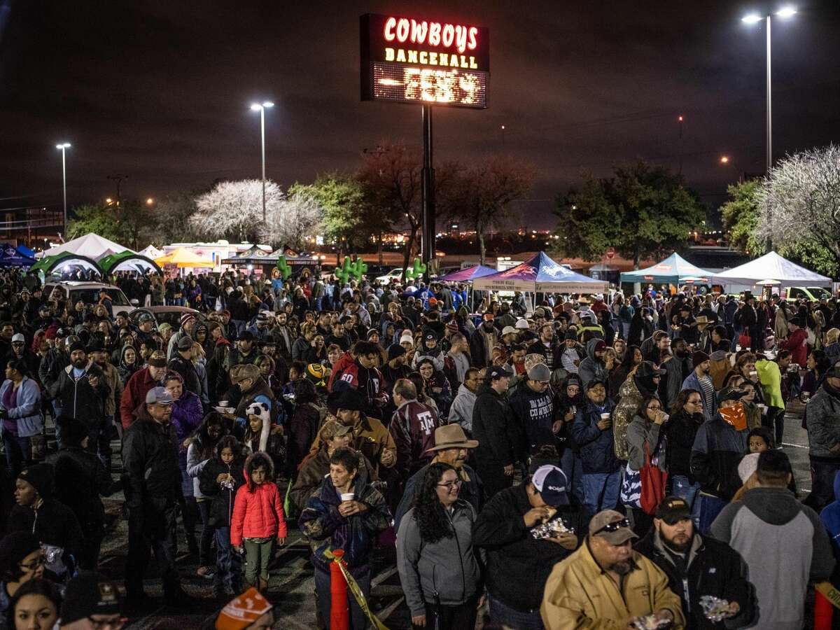 More than 30,000 were expected to attend the 41st annual San Antonio Cowboy Breakfast held outside Cowboys Dancehall in San Antonio, Texas on Friday, January 25, 2019. The Cowboy Breakfast started in 1979 and draws over 30,000 people for free tacos, coffee and other food to kick off the San Antonio Stock Show and Rodeo.