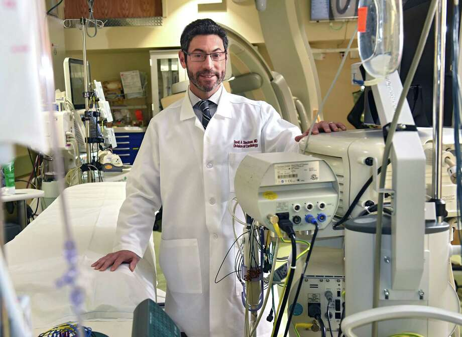 Dr. David Steckman, a cardiac electrophysiologist, is seen in the electrophysiology lab at Albany Medical Center on Friday, Jan. 4, 2019 in Albany, N.Y. He specializes in a variety of treatment options for heart arrhythmias and will be speaking at the next HealthyLife seminar, hosted by Upstate Magazine and Albany Med. (Lori Van Buren/Times Union) Photo: Lori Van Buren / 20045777A