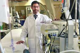 Dr. David Steckman, a cardiac electrophysiologist, is seen in the electrophysiology lab at Albany Medical Center on Friday, Jan. 4, 2019 in Albany, N.Y. He specializes in a variety of treatment options for heart arrhythmias and will be speaking at the next HealthyLife seminar, hosted by Upstate Magazine and Albany Med. (Lori Van Buren/Times Union)