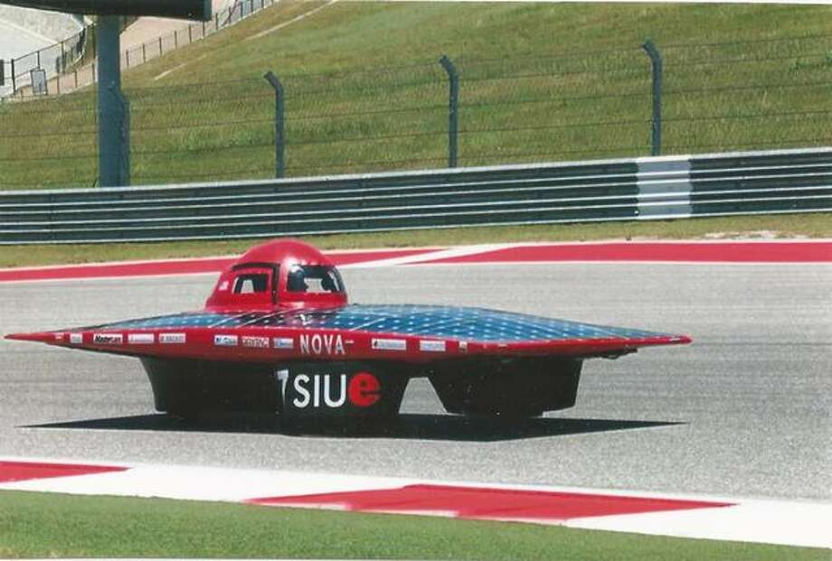 SIUE solar car in action. Photo: For The Intelligencer