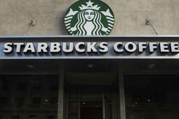 A Starbucks coffee shop in New York.