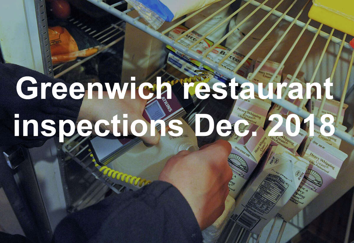 Inspections of food-service establishments were conducted by the Greenwich Department of Environmental Services in late 2018. Four-point violations and scores below 85 require immediate attention. Establishments with a score of 80 or below can be fined or forced to close. >>The following eateries received a score of 85 or below and/or one or more 4-point violation.