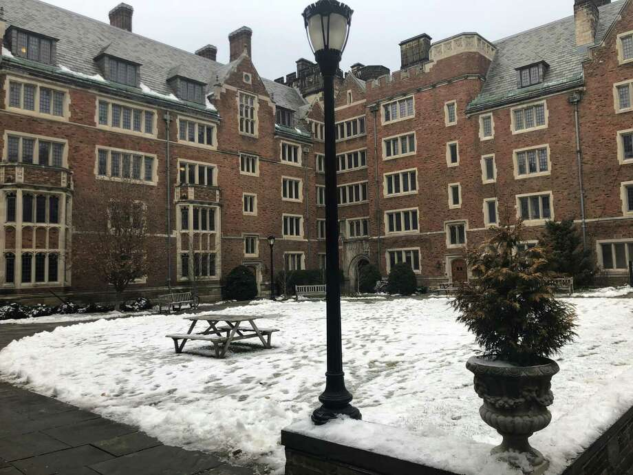 The quad of Grace Hopper College on Yale University's campus after January's snowfall. Photo: Ed Stannard / Hearst Connecticut Media