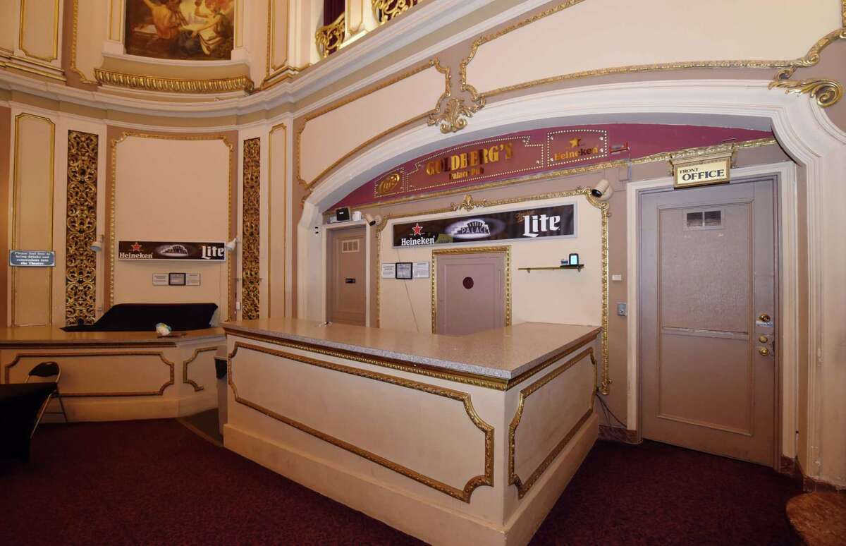 A view of the present bar that would be moved to create a new entry way to a second lobby at the Palace Theater Thursday, Jan. 24, 2019 in Albany, N.Y. (Phoebe Sheehan/Times Union)