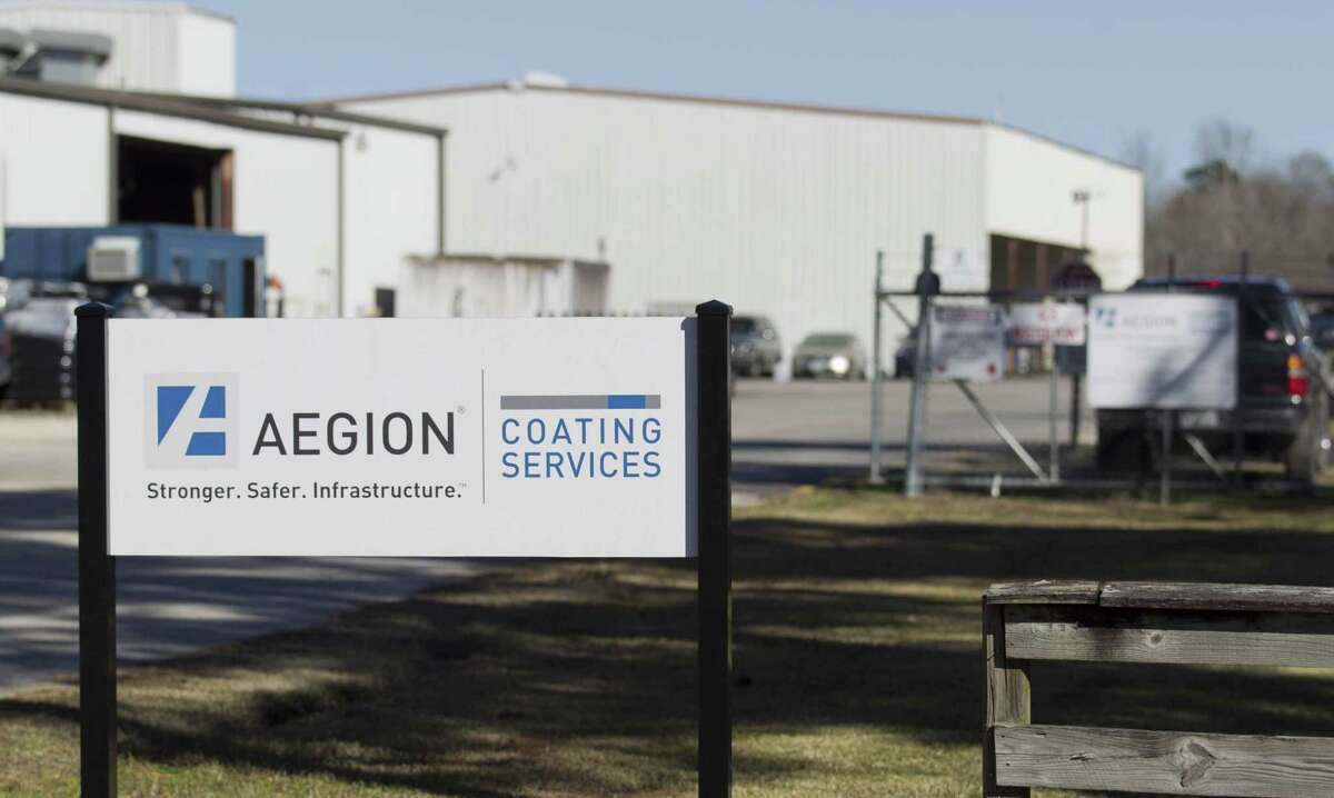 Montgomery County emergency personnel responded to an industrial fire at Aegion Coating Services on Jefferson Chemical Road, Thursday, Jan. 24, 2019, in Conroe.