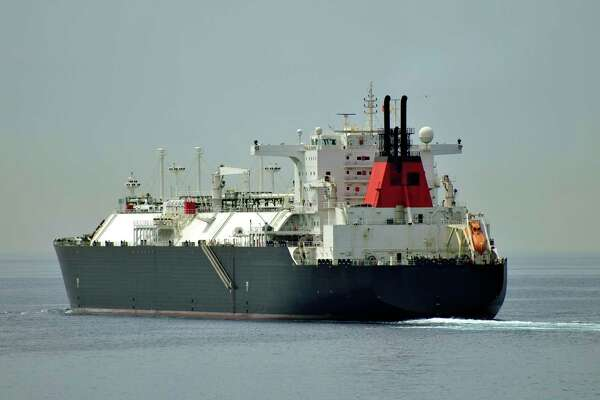 An LNG tanker. The Houston company Tellurian has advanced it its plans to build massive LNG processing and export terminal along the Gulf Coast.