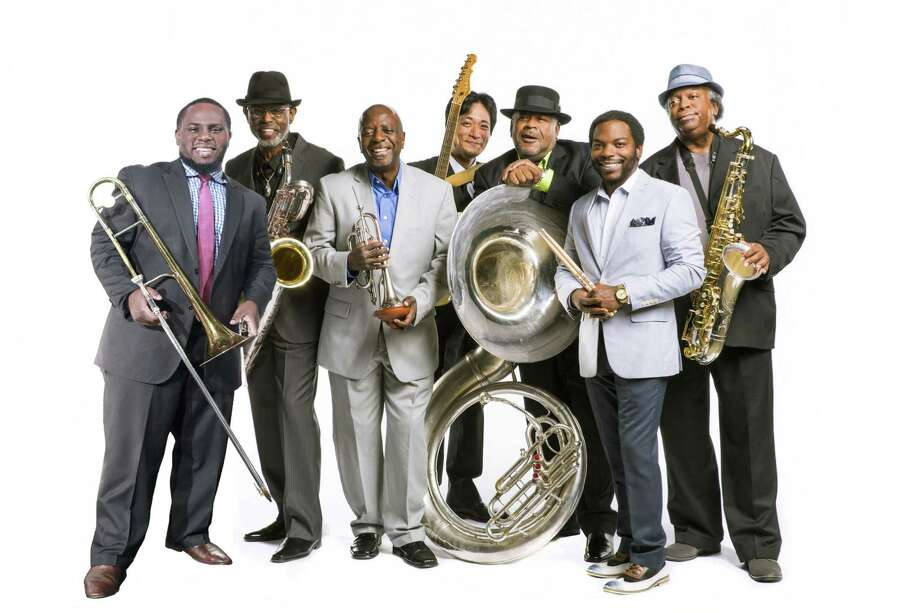 Dirty Dozen Brass Band, above, and Cha Wa will be bringing Mardi Gras to the Ridgefield Playhouse Feb. 27. Photo: Ridgefield Playhouse / Contributed Photo / Connecticut Post Contributed