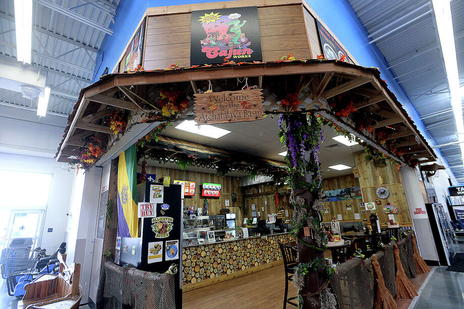 The interior at Cajun Works, a restaurant located inside the Vidor Walmart, is a testament to all things Cajun, from food to slang and a timeline of owner Toby Kimball's family history.  Photo taken Wednesday, January 16, 2019  Photo by Kim Brent/The Enterprise Photo: Kim Brent/The Enterprise