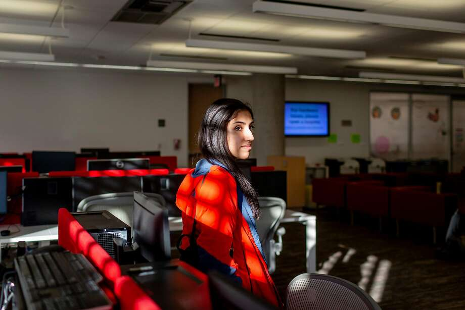 Aafia Ahmad, a sophomore and computer science major at the University of Texas at Austin, has struggled to get into classes. Photo: Photos By Joanna Kulesza / New York Times