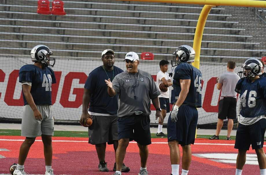 Cypress Ridge High School head football coach and athletic coordinator Gary Thiebaud runs practice at TDECU Stadium prior to the regional finals matchup with Cinco Ranch during the 2016 postseason. Thiebaud will leave the program at the end of the 2018-19 school year with 91 career wins, fifth all-time in CFISD history. Photo: Tony Gaines / HCN / HCN