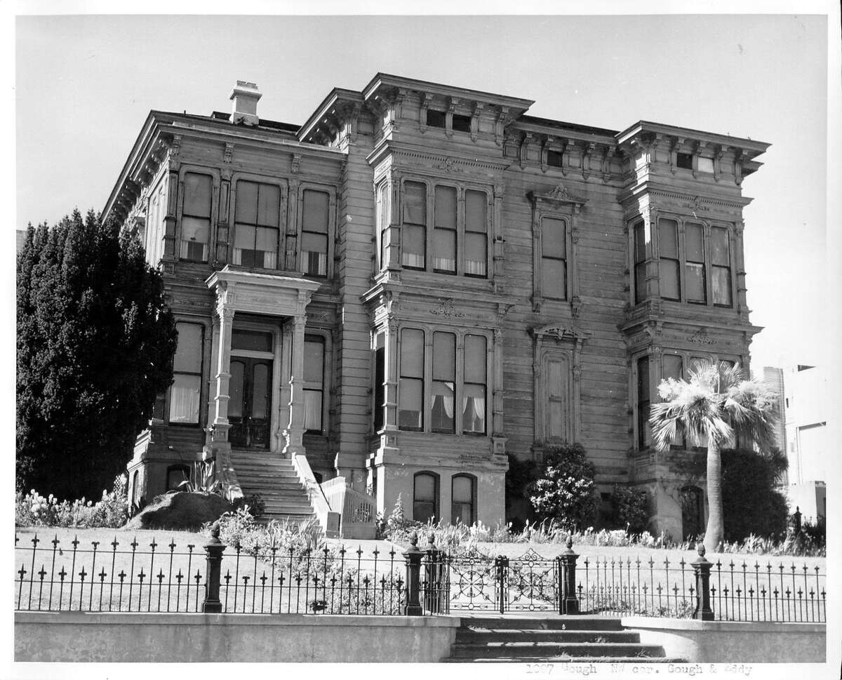 """The former Portman Mansion, located at 1007 Gough Street in San Francisco, gained notoriety as the """"McKitterick Hotel"""" in Alfred Hitchcock's thriller """"Vertigo."""""""