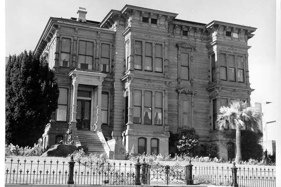 "The former Portman Mansion, located at 1007 Gough Street in San Francisco, gained notoriety as the ""McKitterick Hotel"" in Alfred Hitchcock's thriller ""Vertigo."""