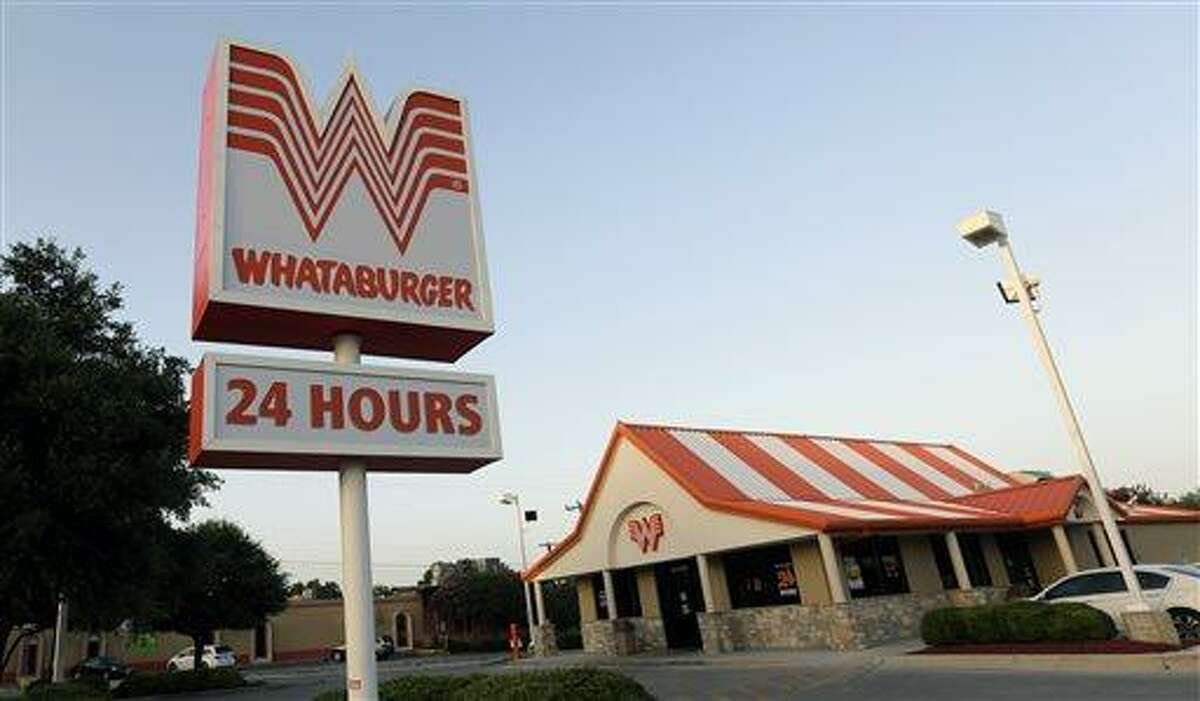 This Thursday, July 9, 2015 photo shows a Whataburger restaurant in San Antonio, Texas.