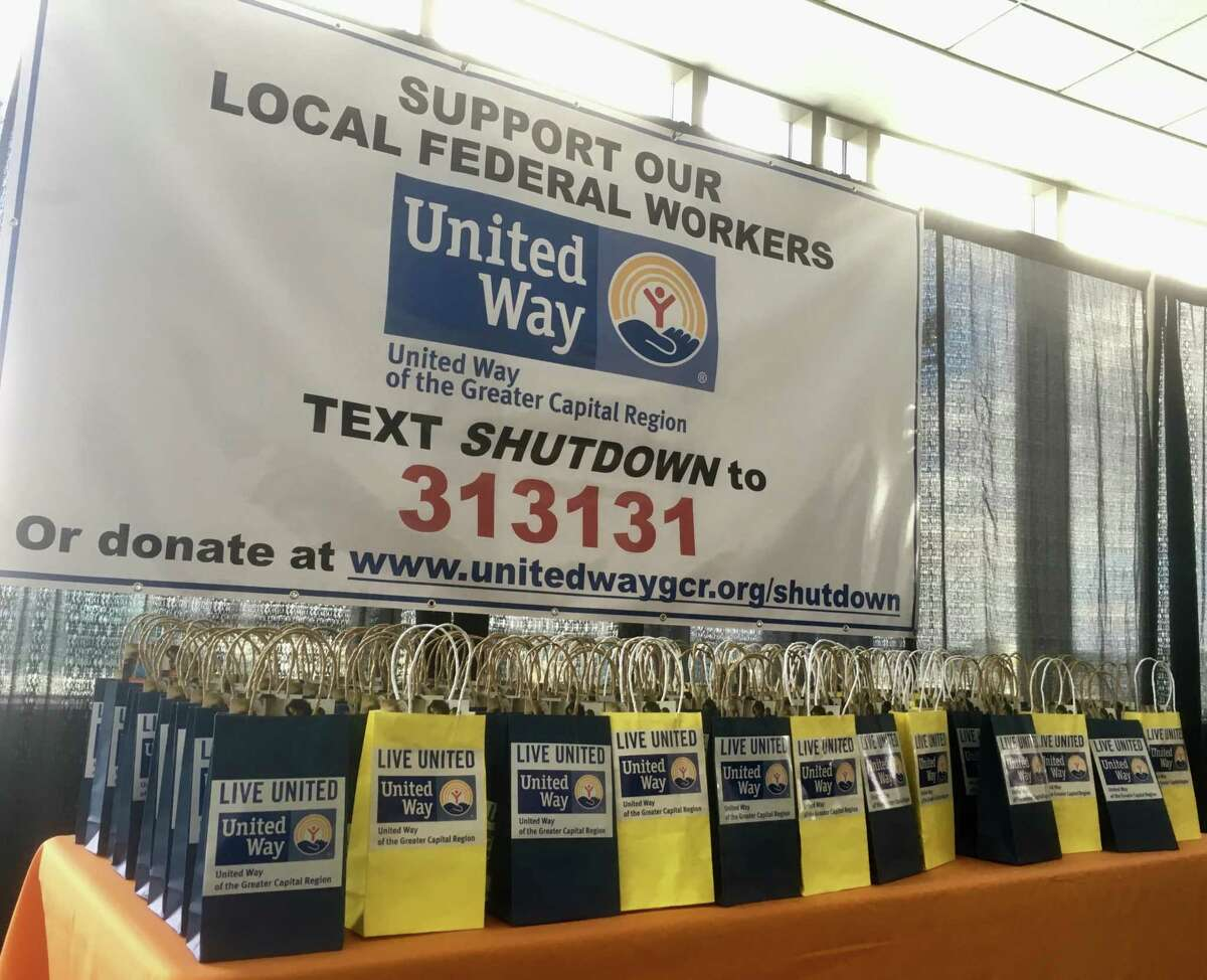 United Way and the Golub Corporation announced donations of $10,000 each to federal workers affected by the federal government shutdown. People can text