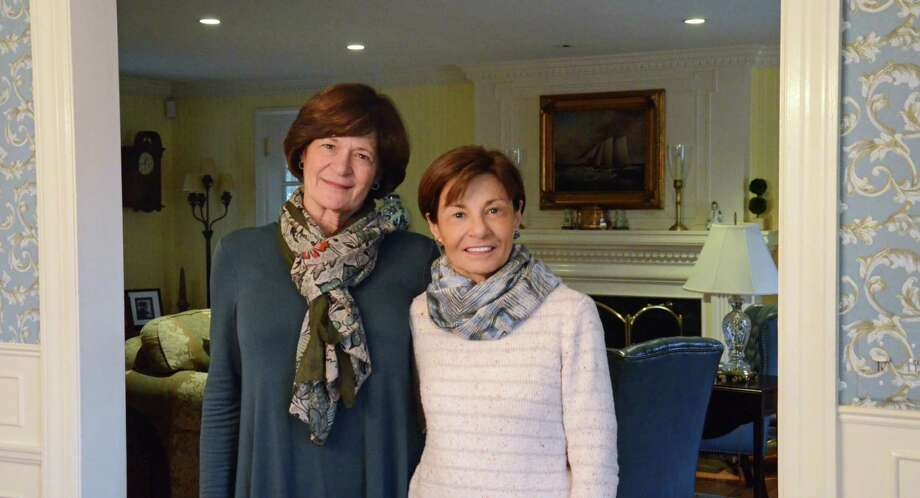 Lois Benfield and Jean DiNatale pose a photo at Benfield's house in Norwalk. Photo: Tatiana Flowers / Hearst Connecticut Media / Norwalk Hour