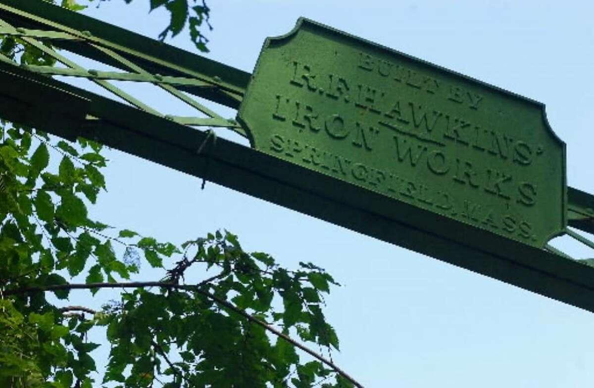 A sign on Dix Bridge in Schuylerville reads