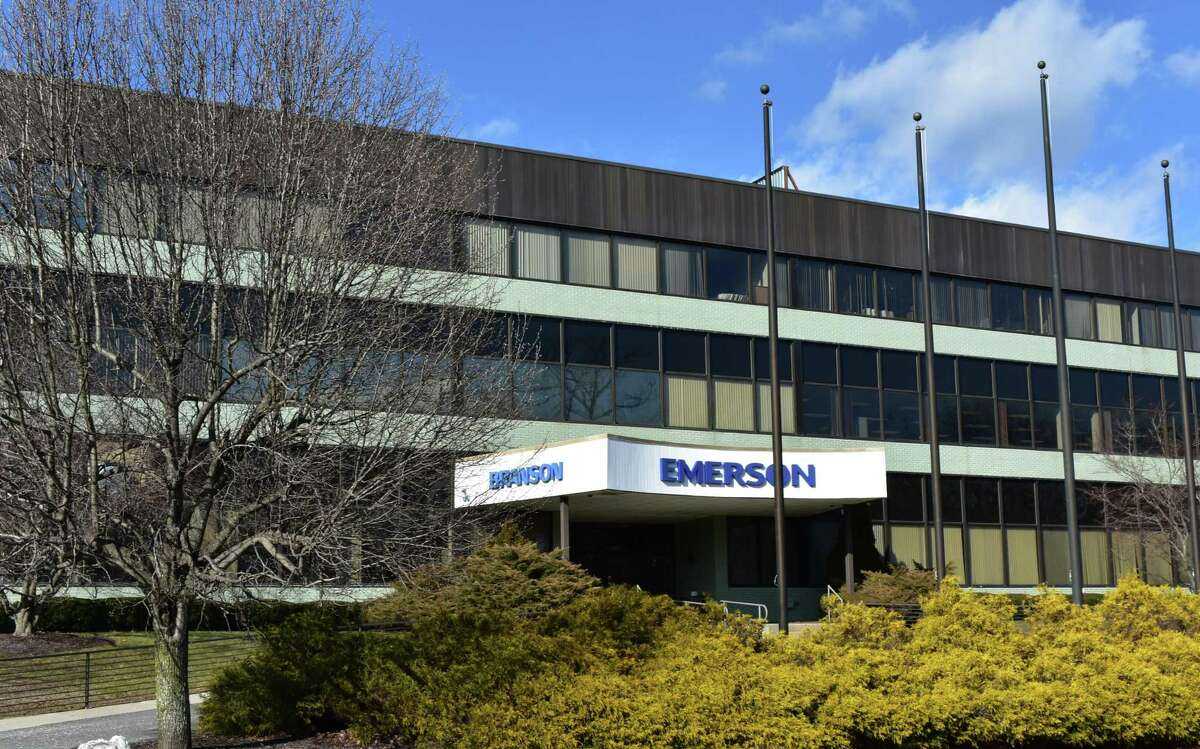 A file photo of the headquarters of Emerson division Branson Ultrasonics at 41 Eagle Road in Danbury. The manufacturer is planning to relocate to the Berkshire Corporate Park a short distance away in Brookfield.