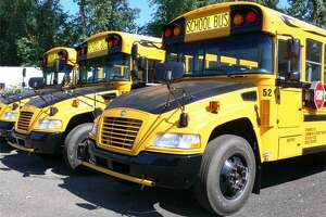 Some of the city's propane buses.