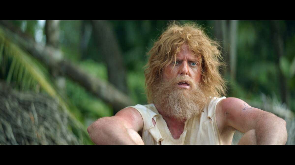 """San Antonio grocer H-E-B's Super Bowl spot this year features a man stranded on a desert island """"Castaway""""-style who scrounges for food until a Kodi cooler full of H-E-B branded goodies washes ashore."""